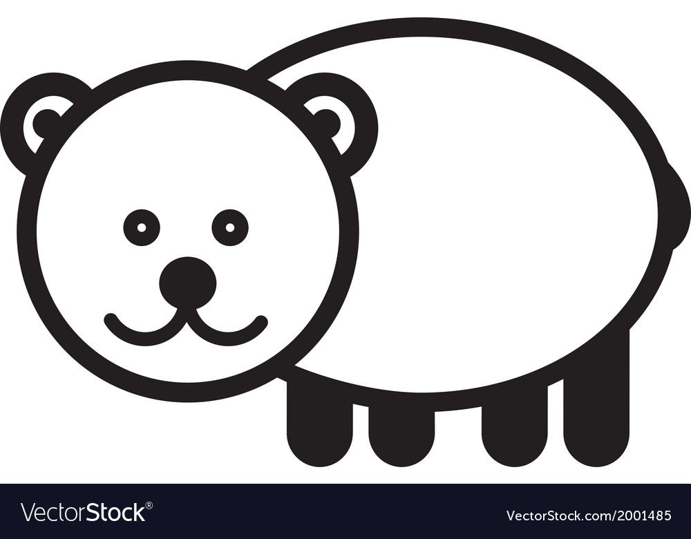 Cute animal bear - vector   Price: 1 Credit (USD $1)