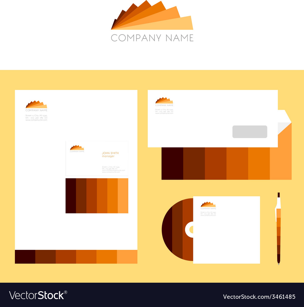 Design of corporate identity templates vector | Price: 1 Credit (USD $1)