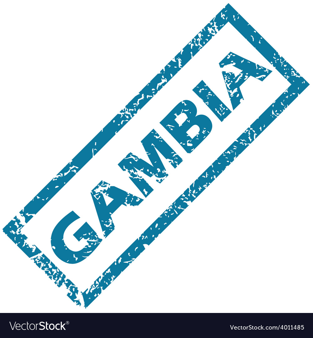 Gambia rubber stamp vector | Price: 1 Credit (USD $1)