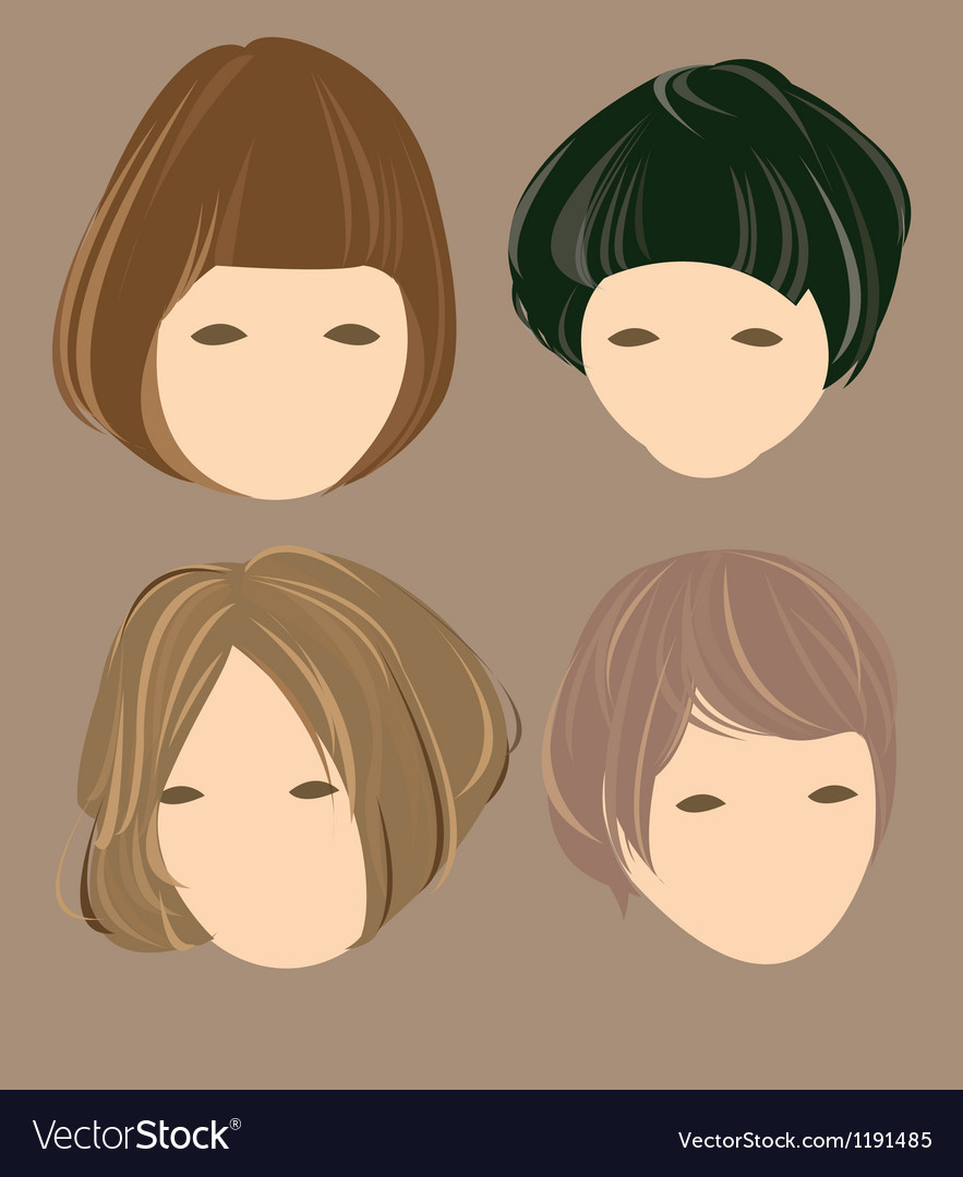Hair cute girl vector | Price: 1 Credit (USD $1)