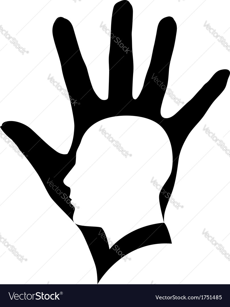 Head in hand vector | Price: 1 Credit (USD $1)