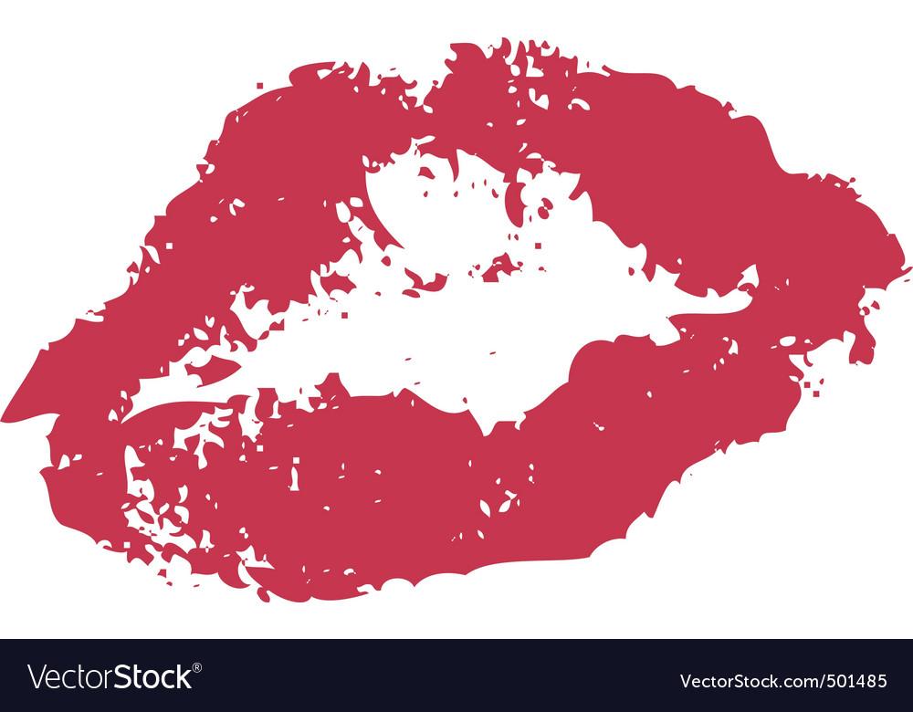 Lipstick kiss vector | Price: 1 Credit (USD $1)