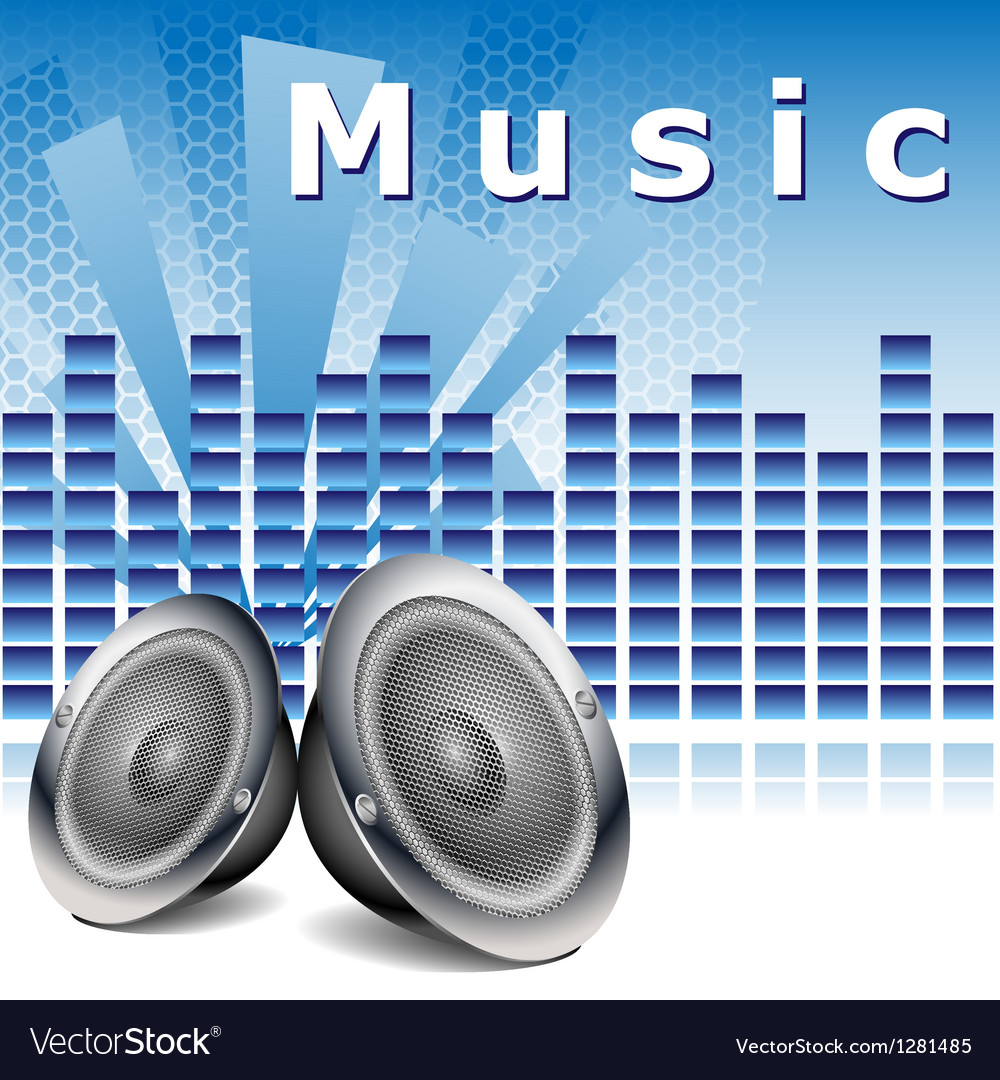 Music background with speakers vector | Price: 1 Credit (USD $1)