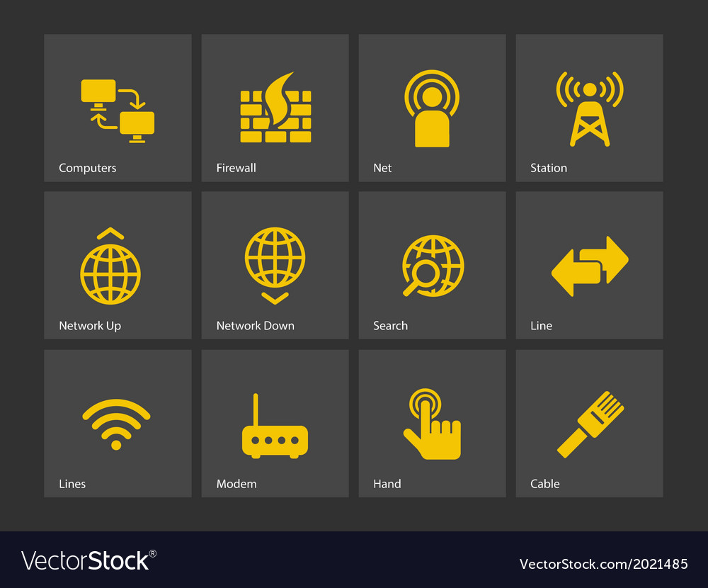 Networking icons vector | Price: 1 Credit (USD $1)