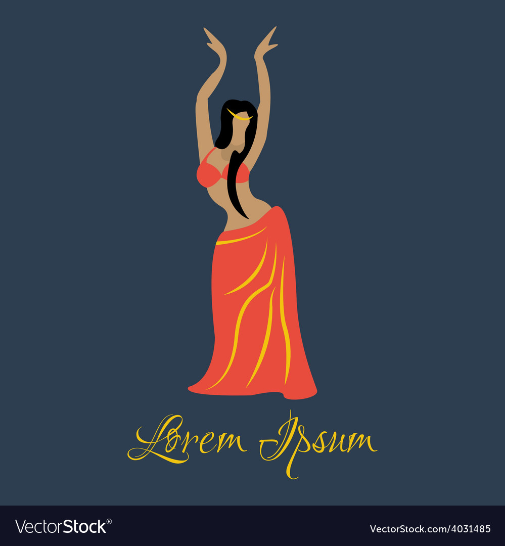 Oriental dancer vector | Price: 1 Credit (USD $1)