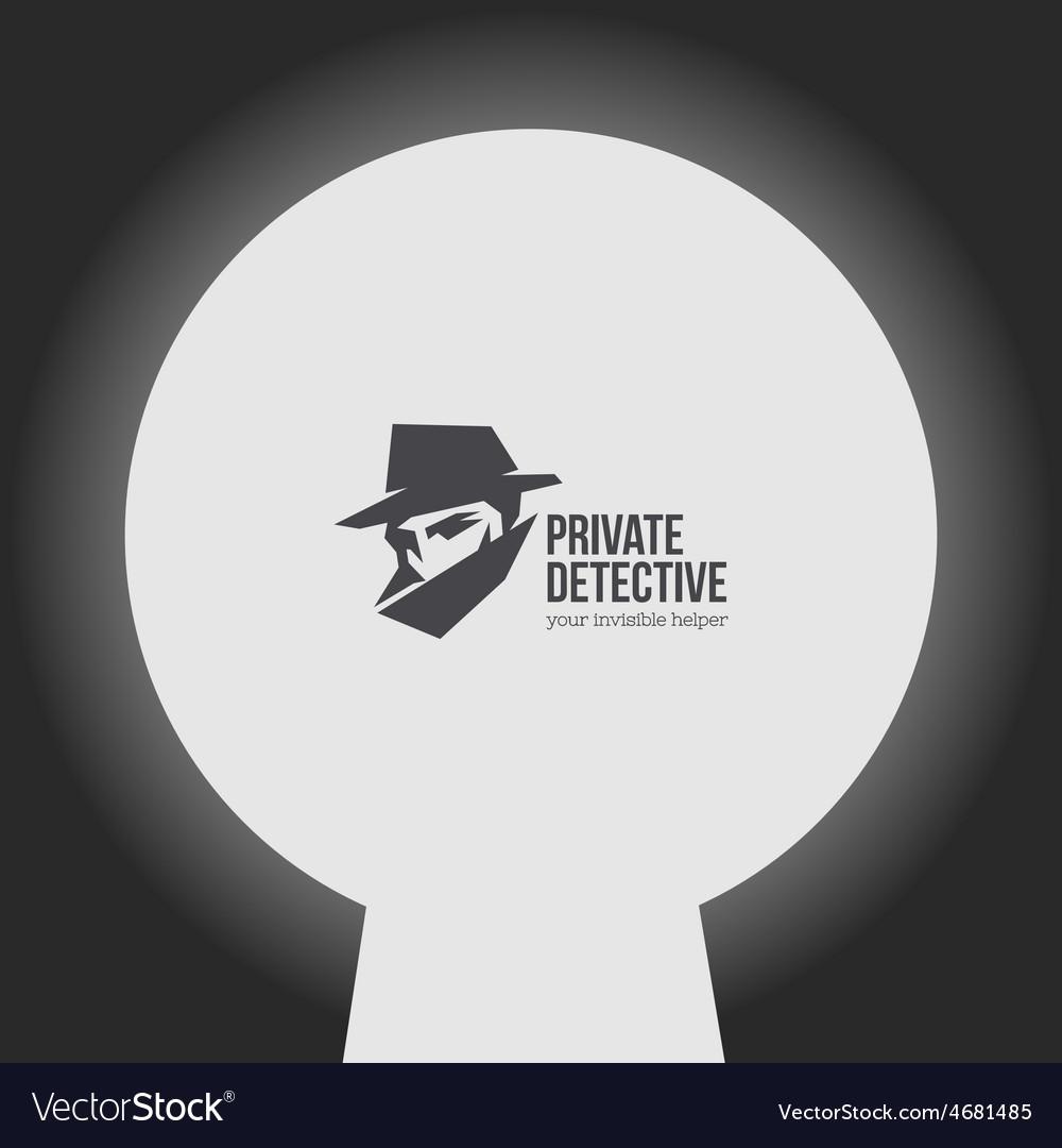 Private detective logo vector | Price: 1 Credit (USD $1)