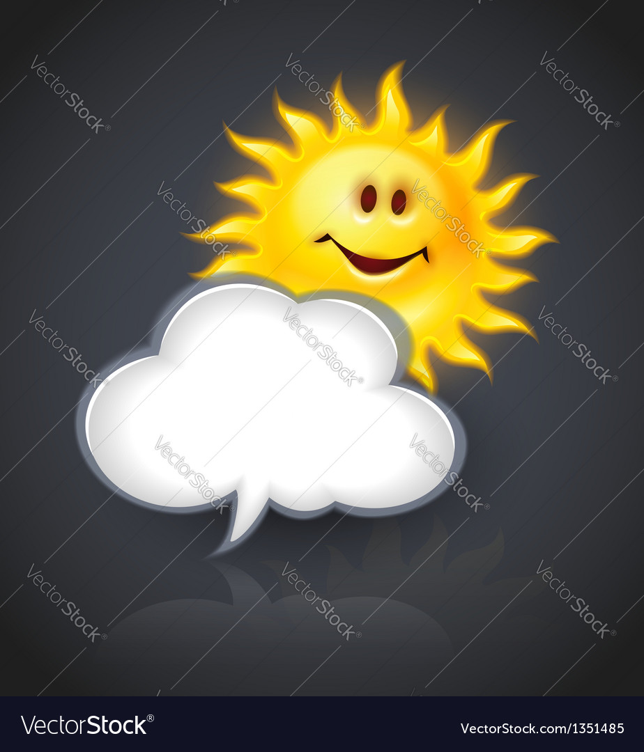 Smiling sun and cloud for vector | Price: 3 Credit (USD $3)