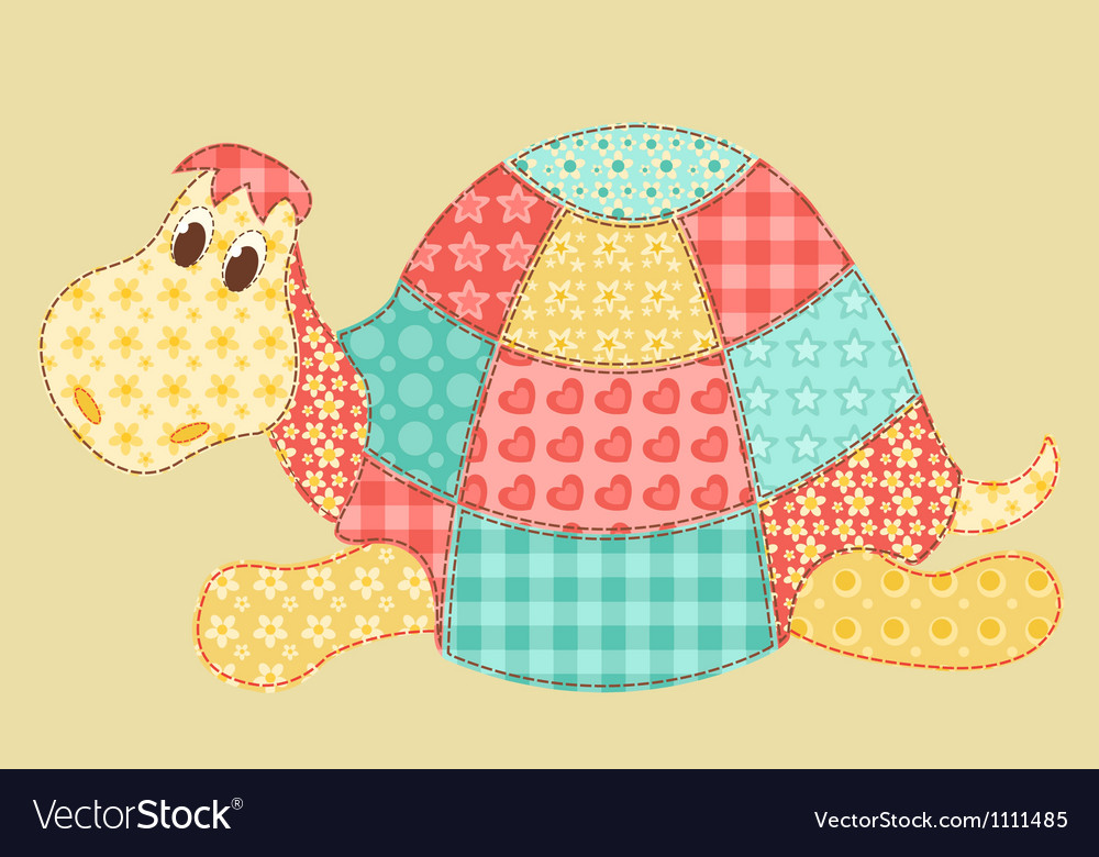 Turtle patchwork vector | Price: 1 Credit (USD $1)