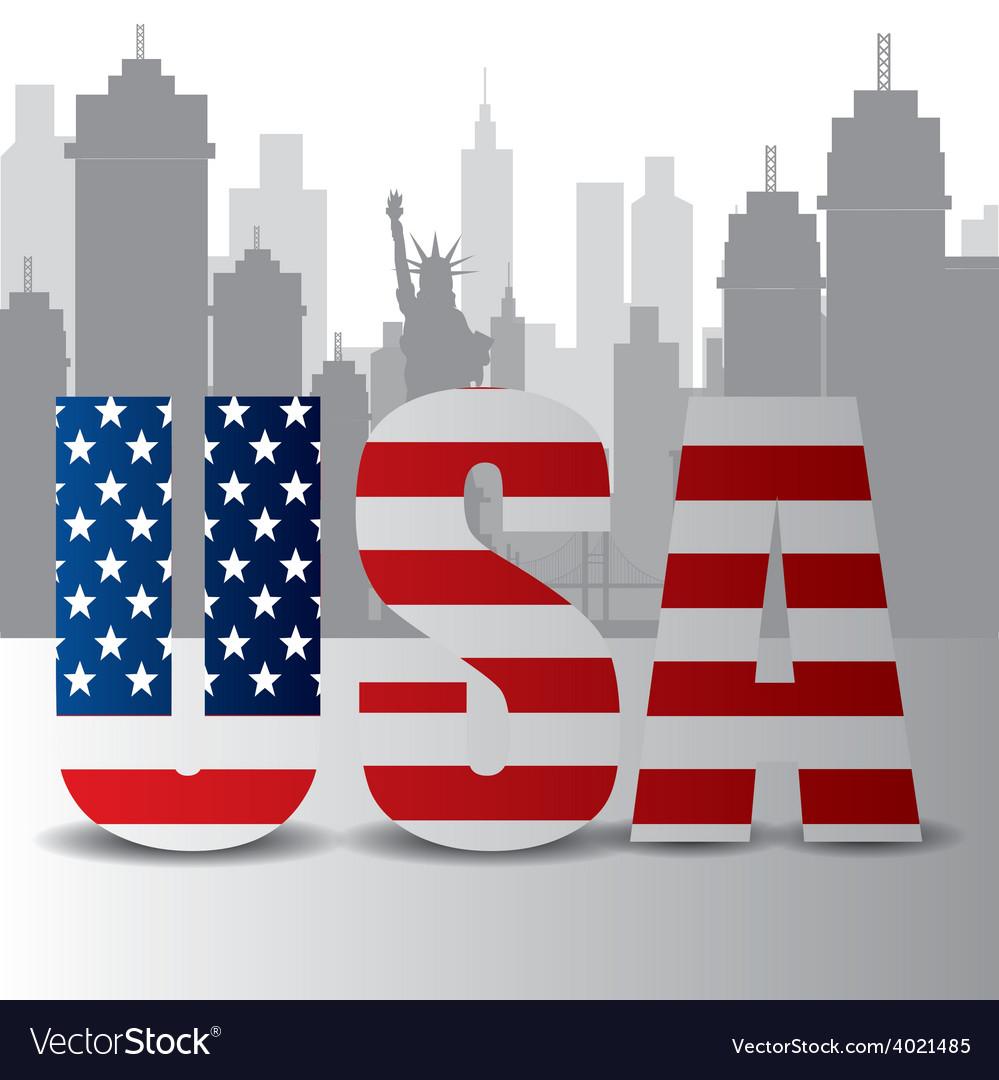Usa design vector | Price: 1 Credit (USD $1)