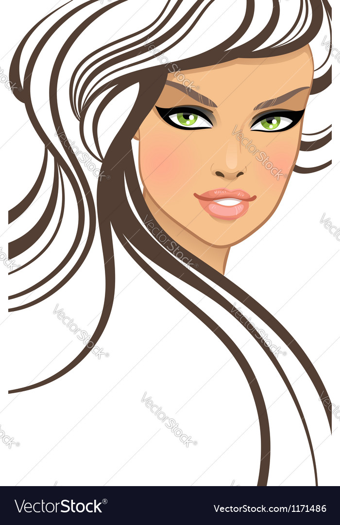 Beautiful girl in fashion style vector | Price: 3 Credit (USD $3)