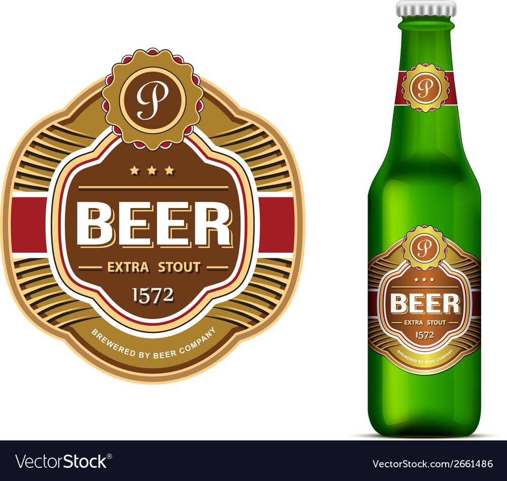 Beer label template vector | Price: 1 Credit (USD $1)