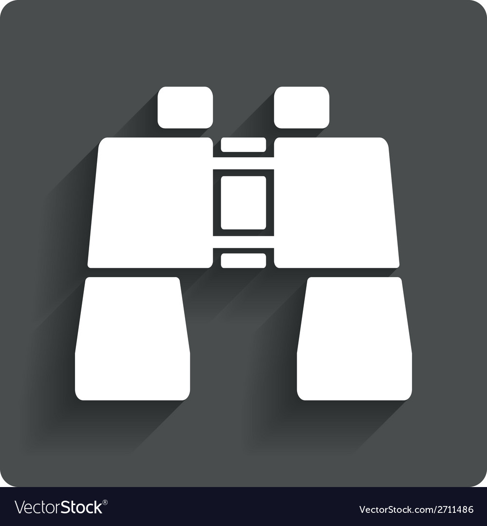 Binocular sign icon search symbol vector | Price: 1 Credit (USD $1)