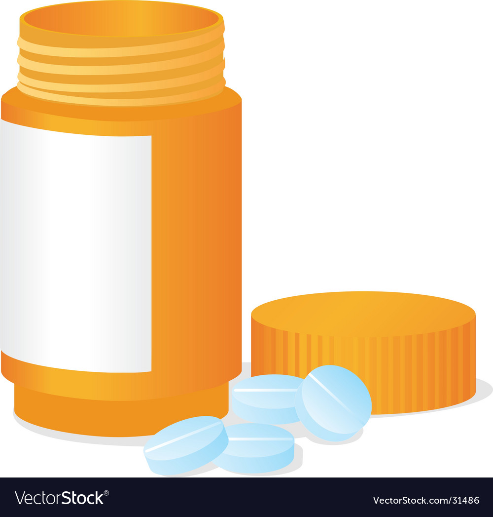 Bottle and tablets vector | Price: 1 Credit (USD $1)
