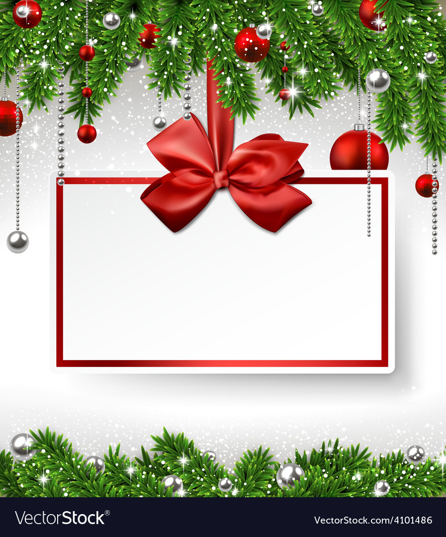 Christmas background with invitation card vector   Price: 1 Credit (USD $1)