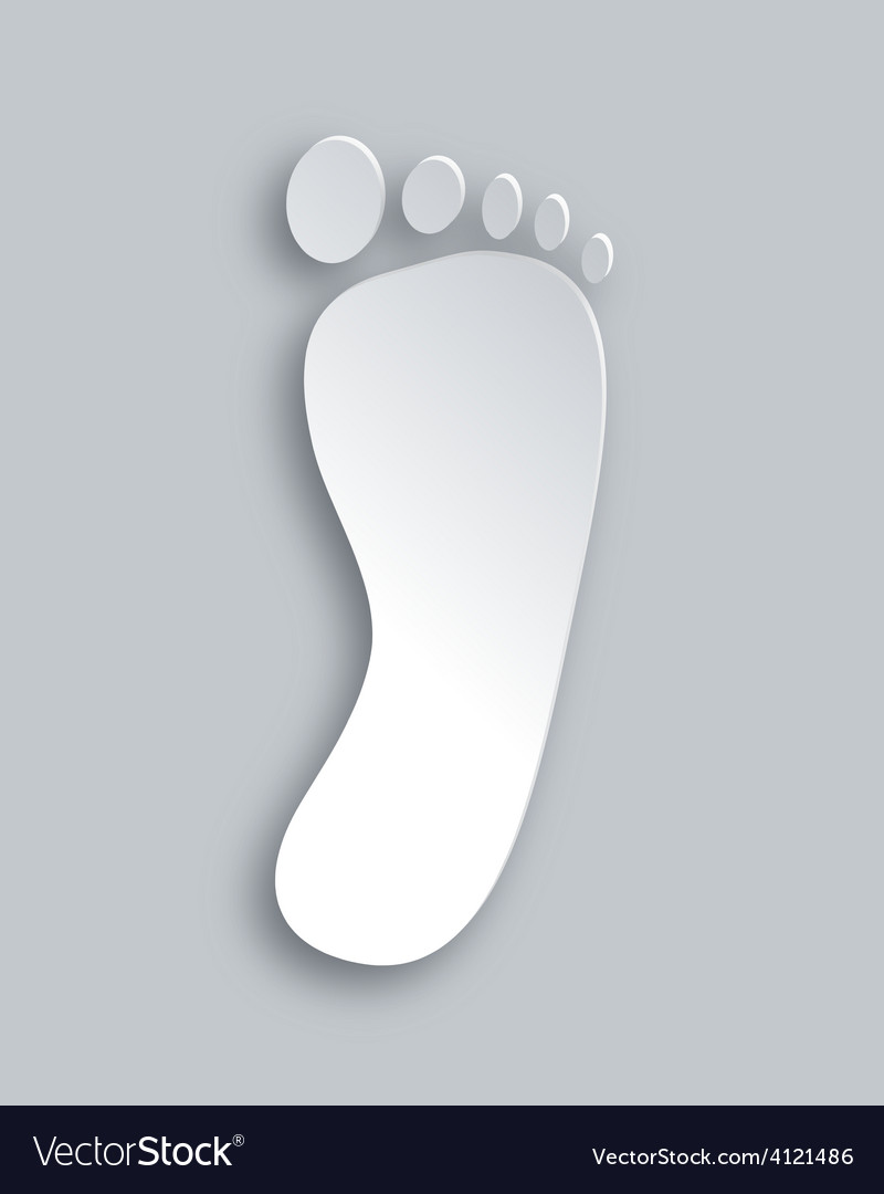 Foot silhouette vector | Price: 1 Credit (USD $1)