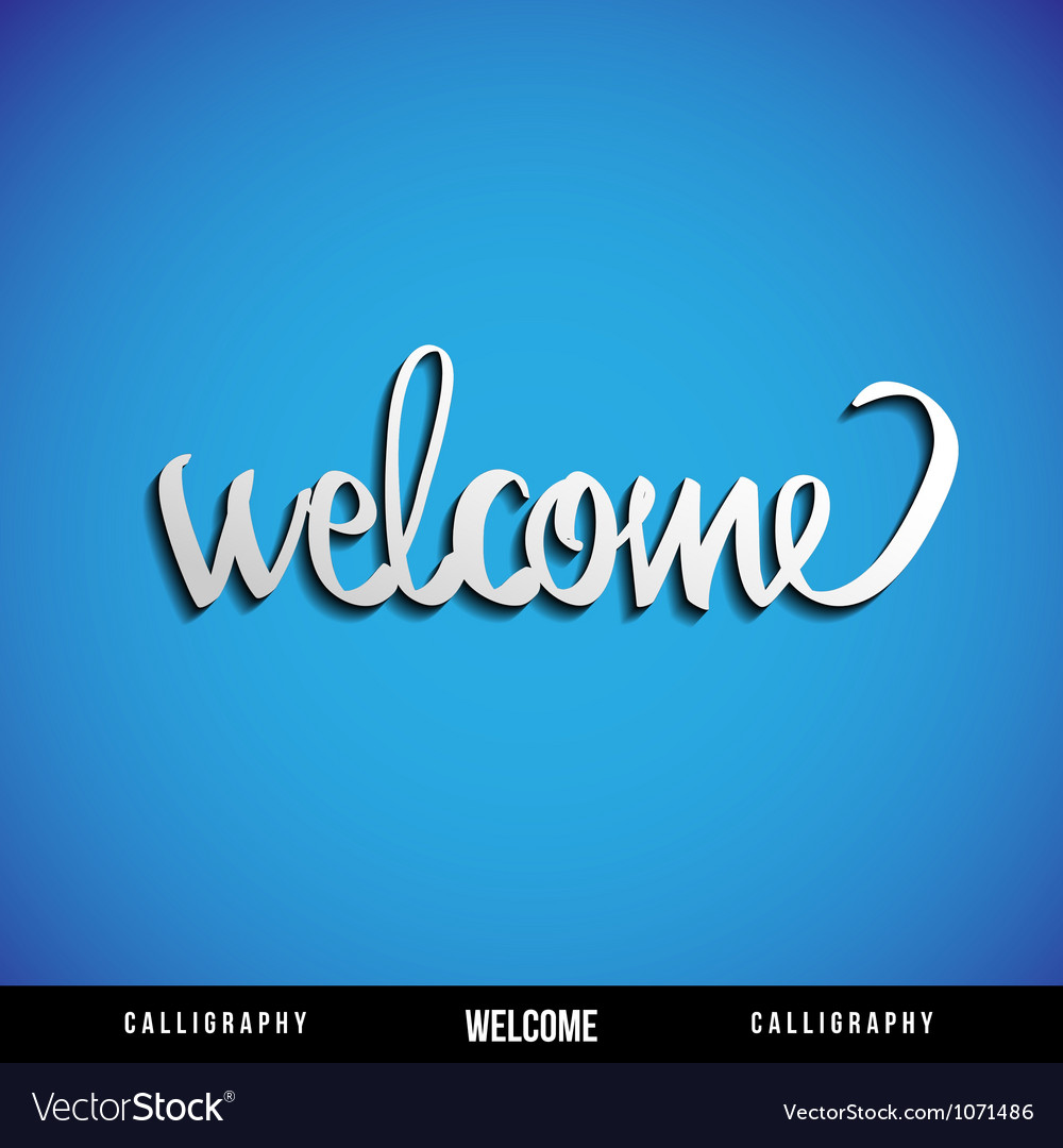 Lettering welcome vector | Price: 1 Credit (USD $1)