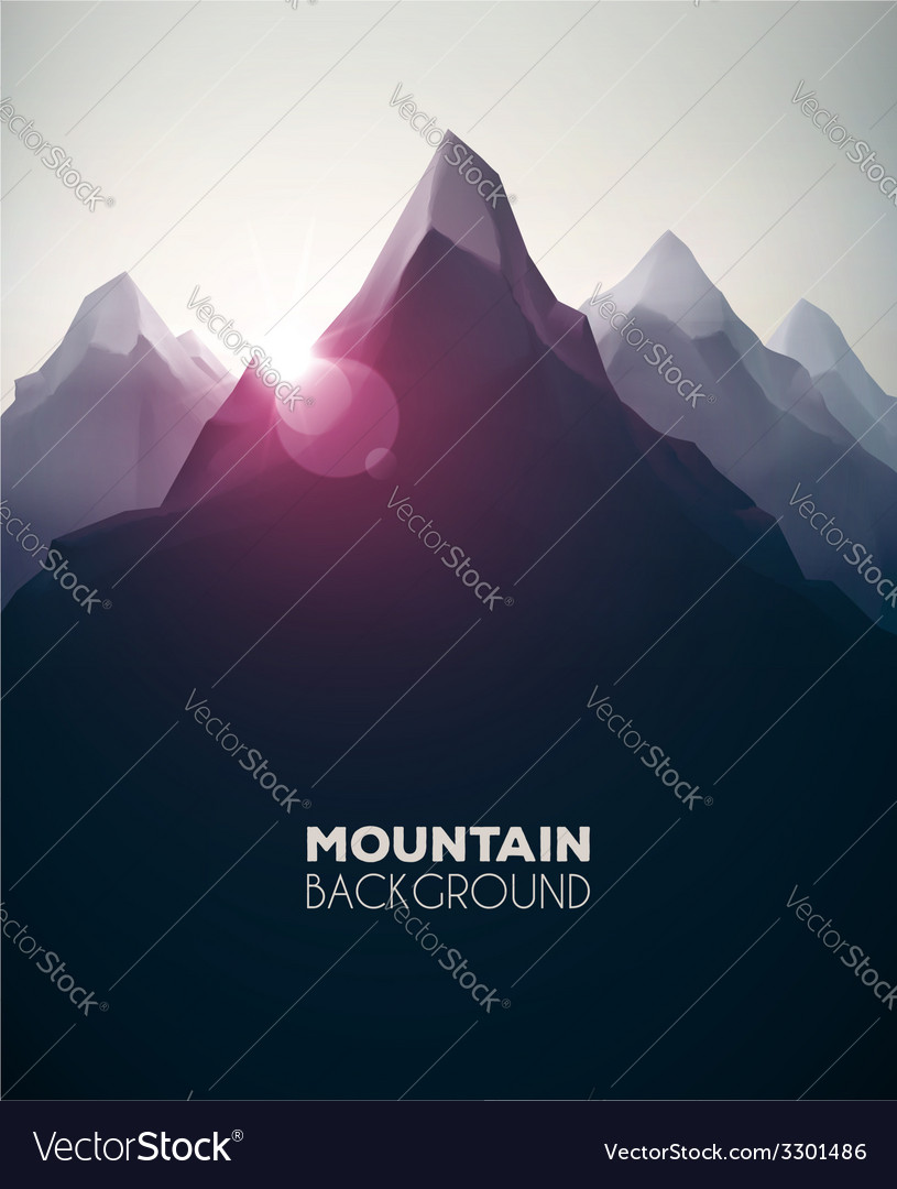 Mountain background vector | Price: 1 Credit (USD $1)