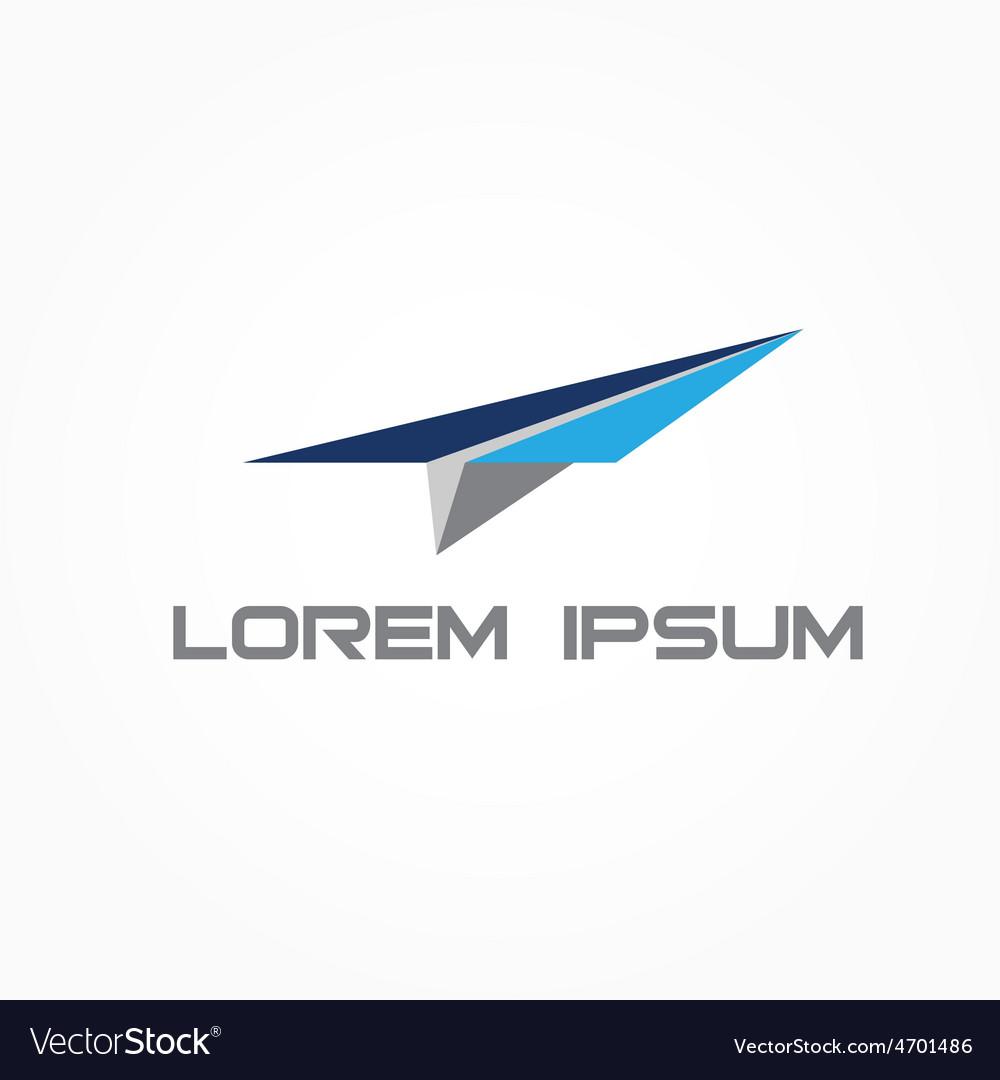Paper plane design template vector | Price: 1 Credit (USD $1)