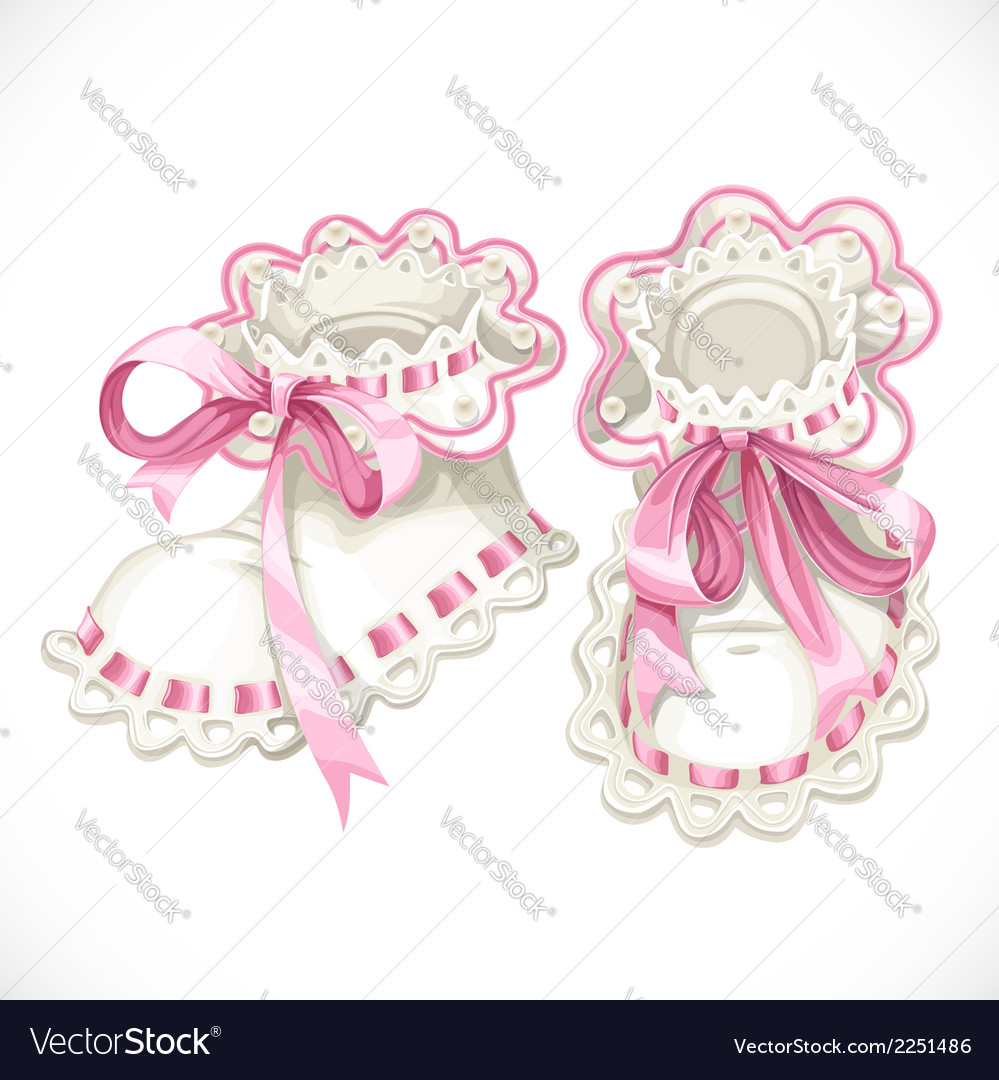 Pink booties for newborn vector | Price: 1 Credit (USD $1)