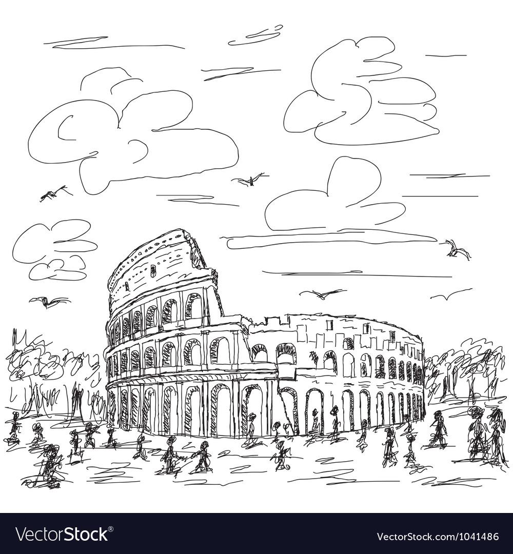 Rome colosseum vector | Price: 1 Credit (USD $1)