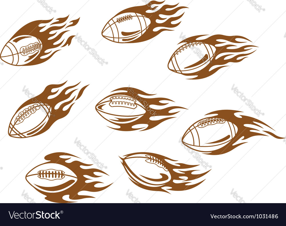 Rugby and football tattoos vector | Price: 1 Credit (USD $1)