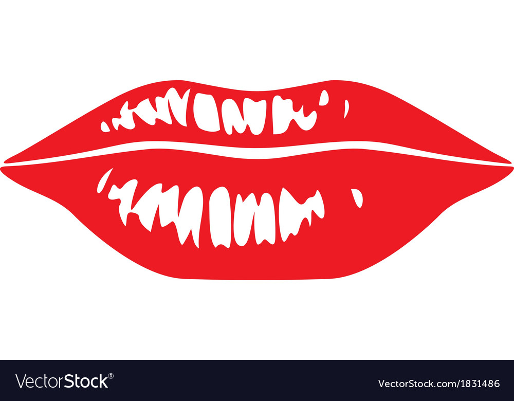 Sensuality lips vector | Price: 1 Credit (USD $1)
