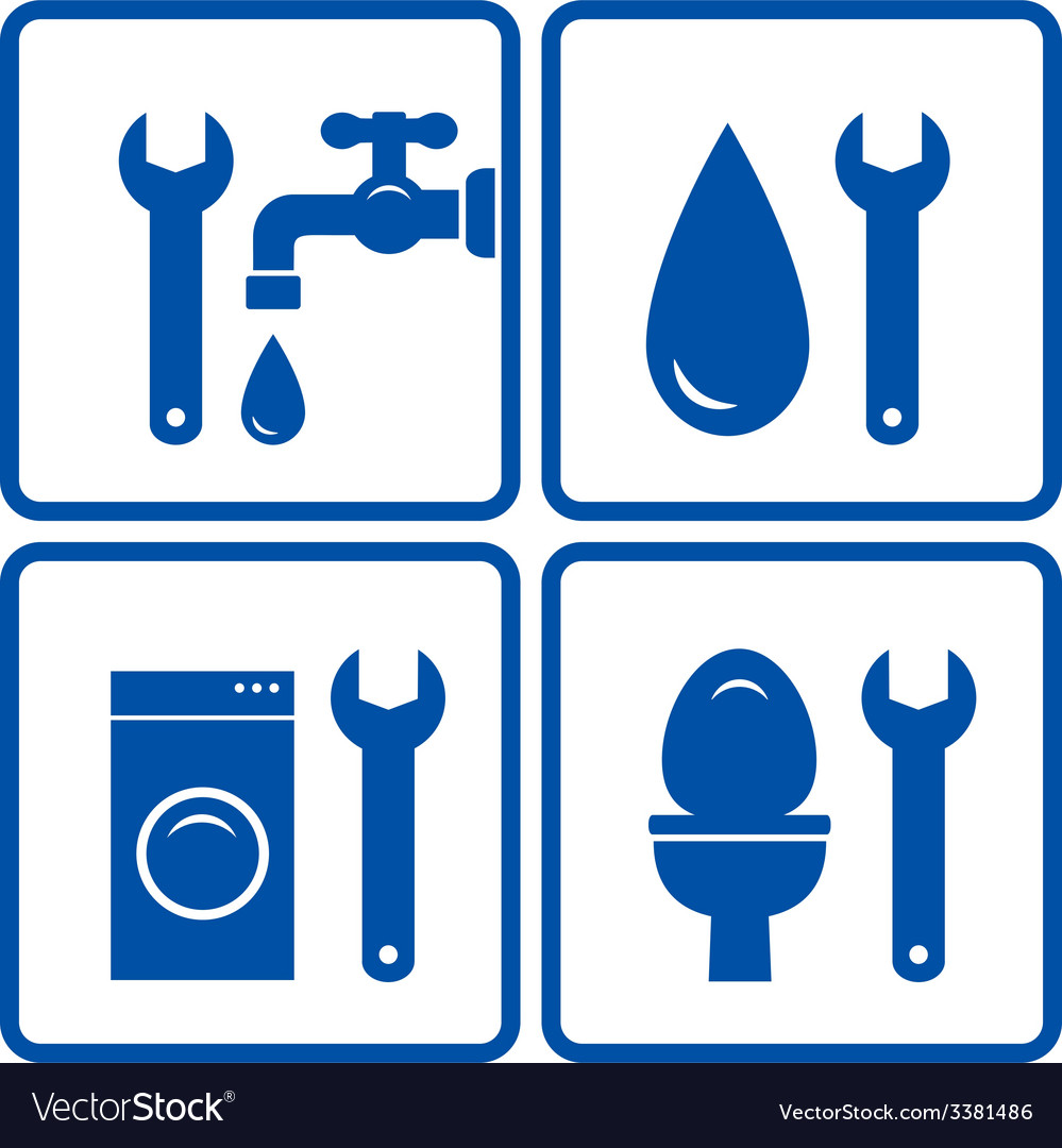 Set of plumbing signs vector | Price: 1 Credit (USD $1)