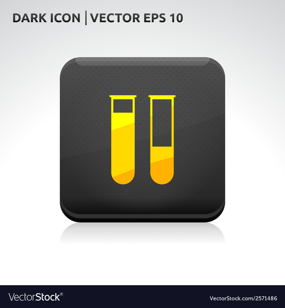 Test tubes laboratory icon gold vector | Price: 1 Credit (USD $1)
