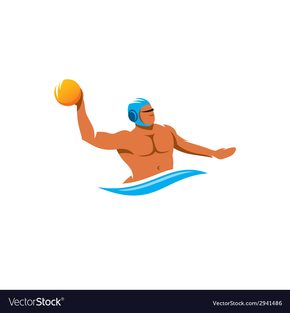 Water polo player sign vector | Price: 1 Credit (USD $1)