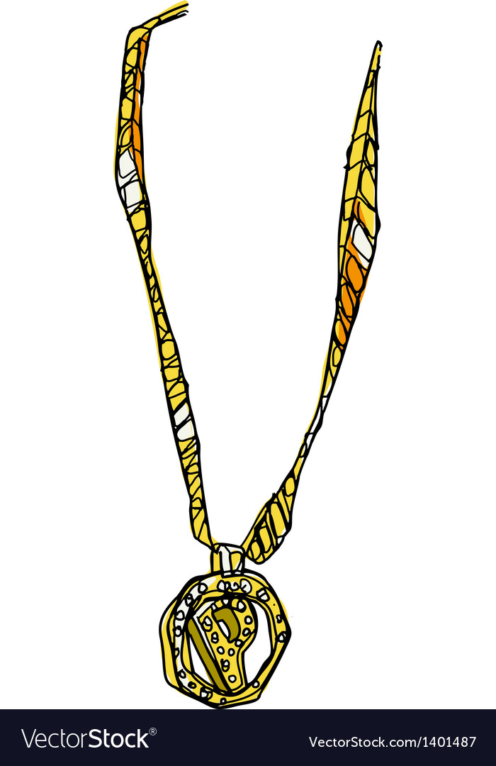 A view of necklace vector | Price: 1 Credit (USD $1)