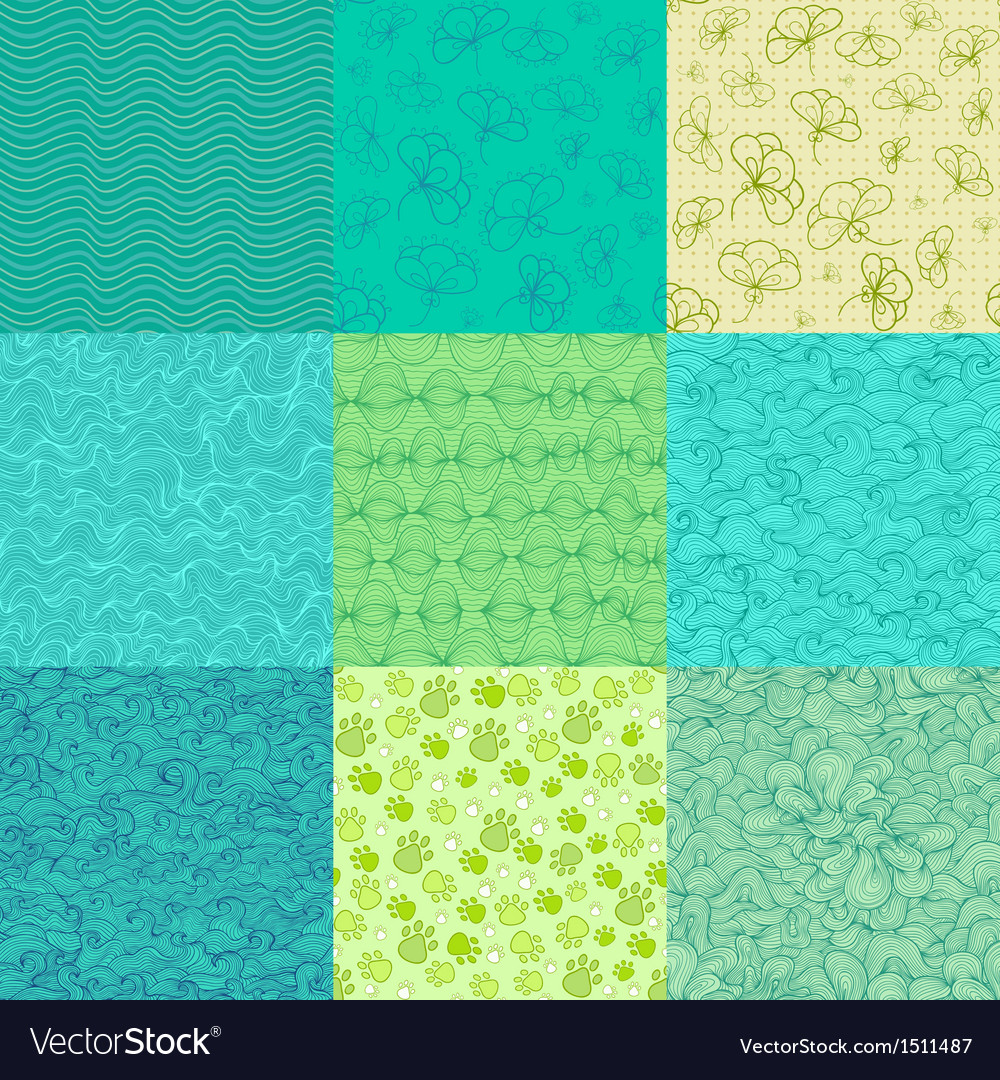 Abstract seamless pattern collection vector | Price: 1 Credit (USD $1)