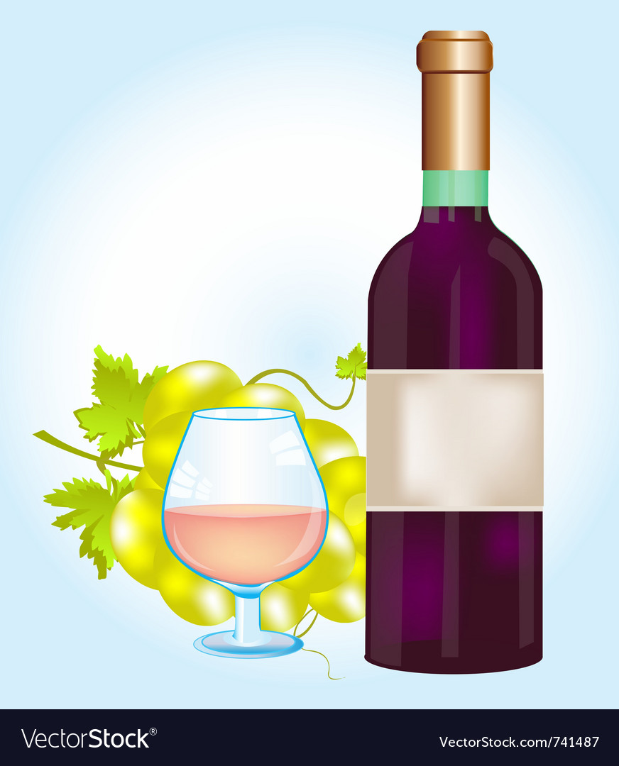 Bottle red grape vector | Price: 1 Credit (USD $1)