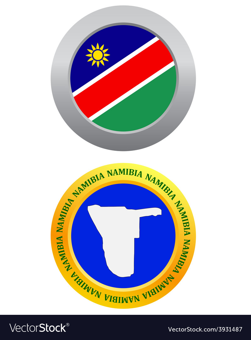 Button as a symbol namibia vector | Price: 1 Credit (USD $1)