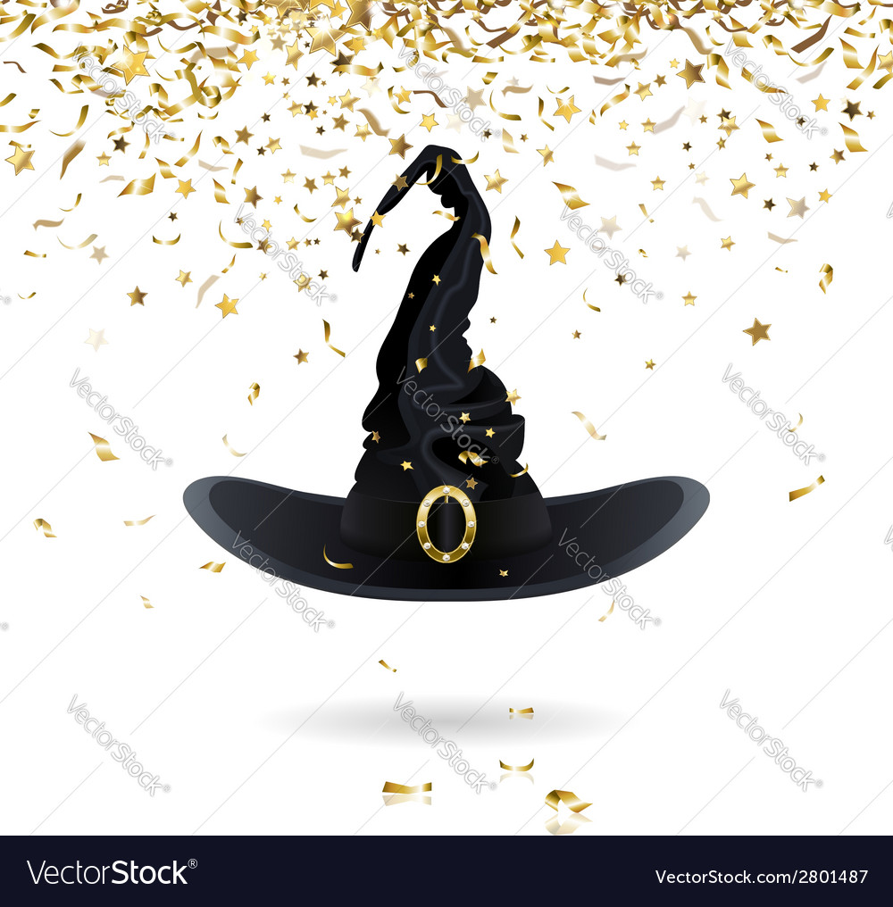 Carnival witch hat vector | Price: 1 Credit (USD $1)