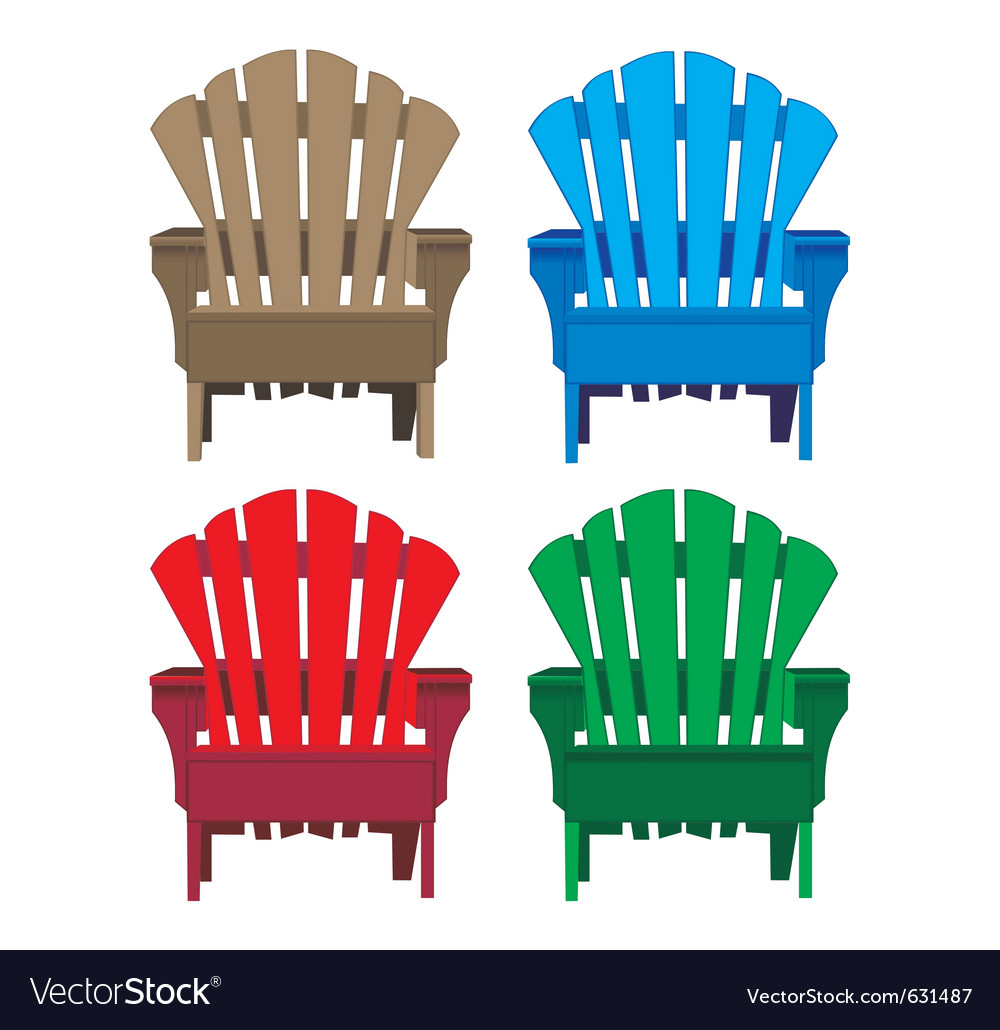 Chair wooden vector