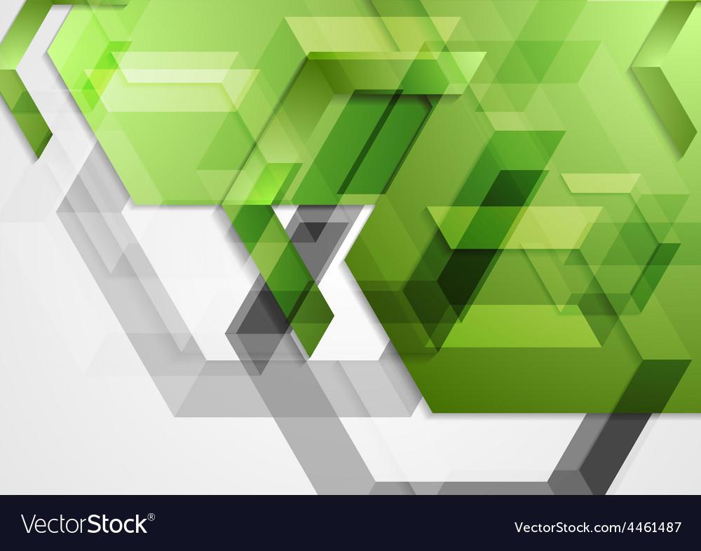 Green shiny hi-tech geometric background vector   Price: 1 Credit (USD $1)