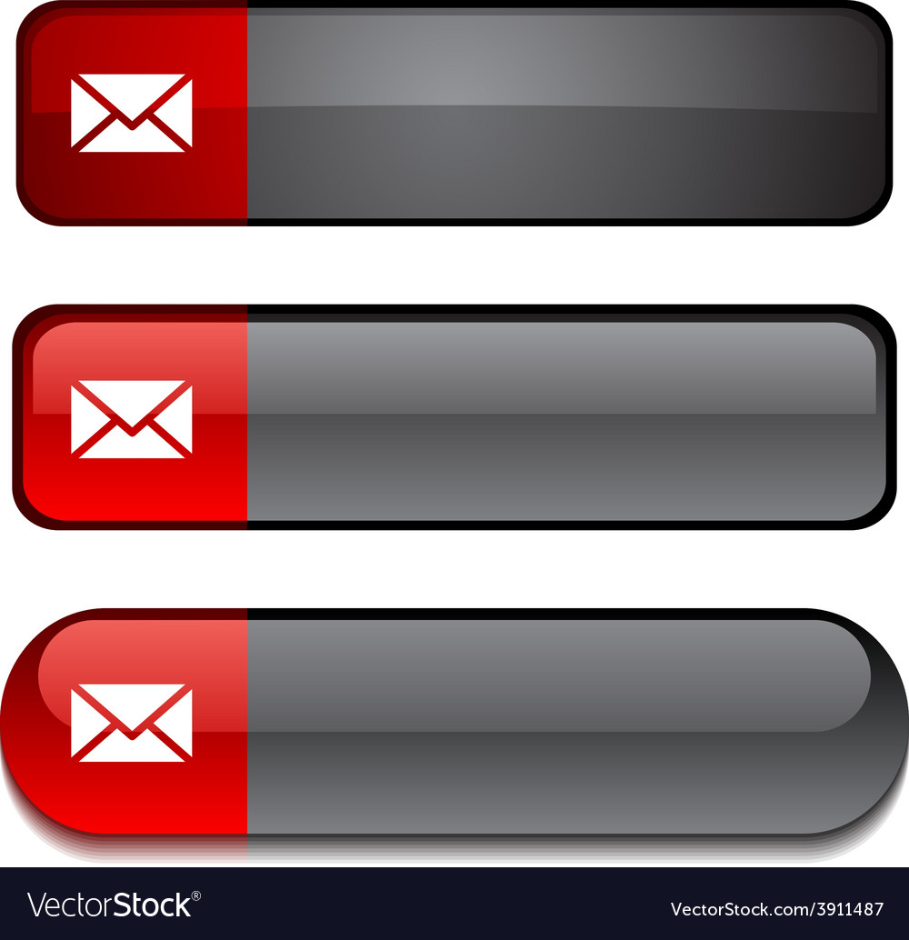 Mail button set vector | Price: 1 Credit (USD $1)