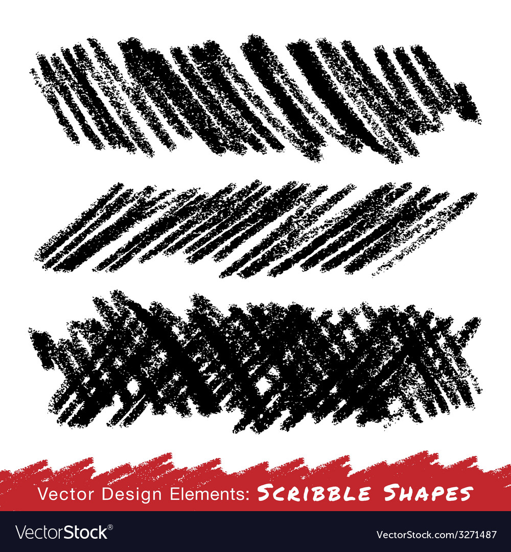 Scribble smears hand drawn in pencil vector | Price: 1 Credit (USD $1)