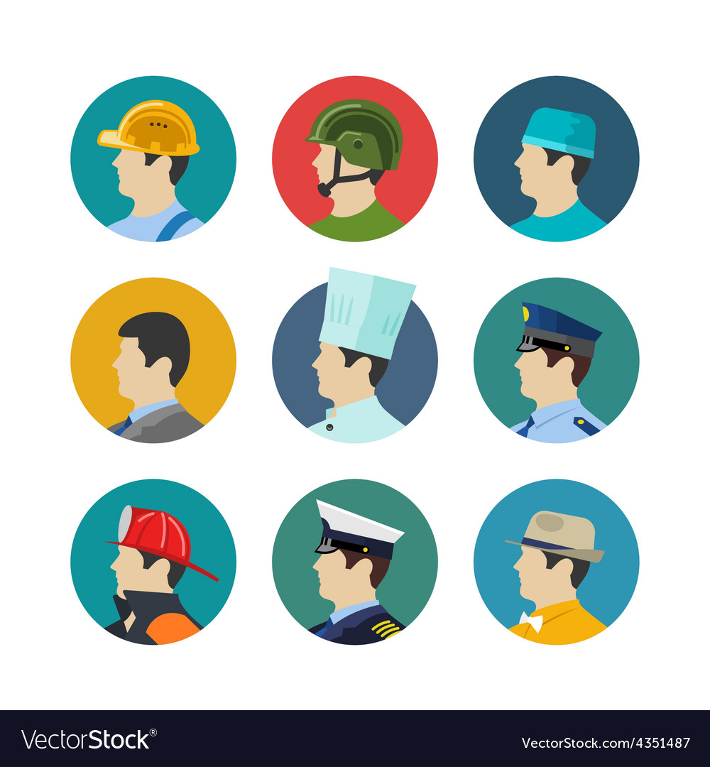 Set of profession icons vector   Price: 1 Credit (USD $1)