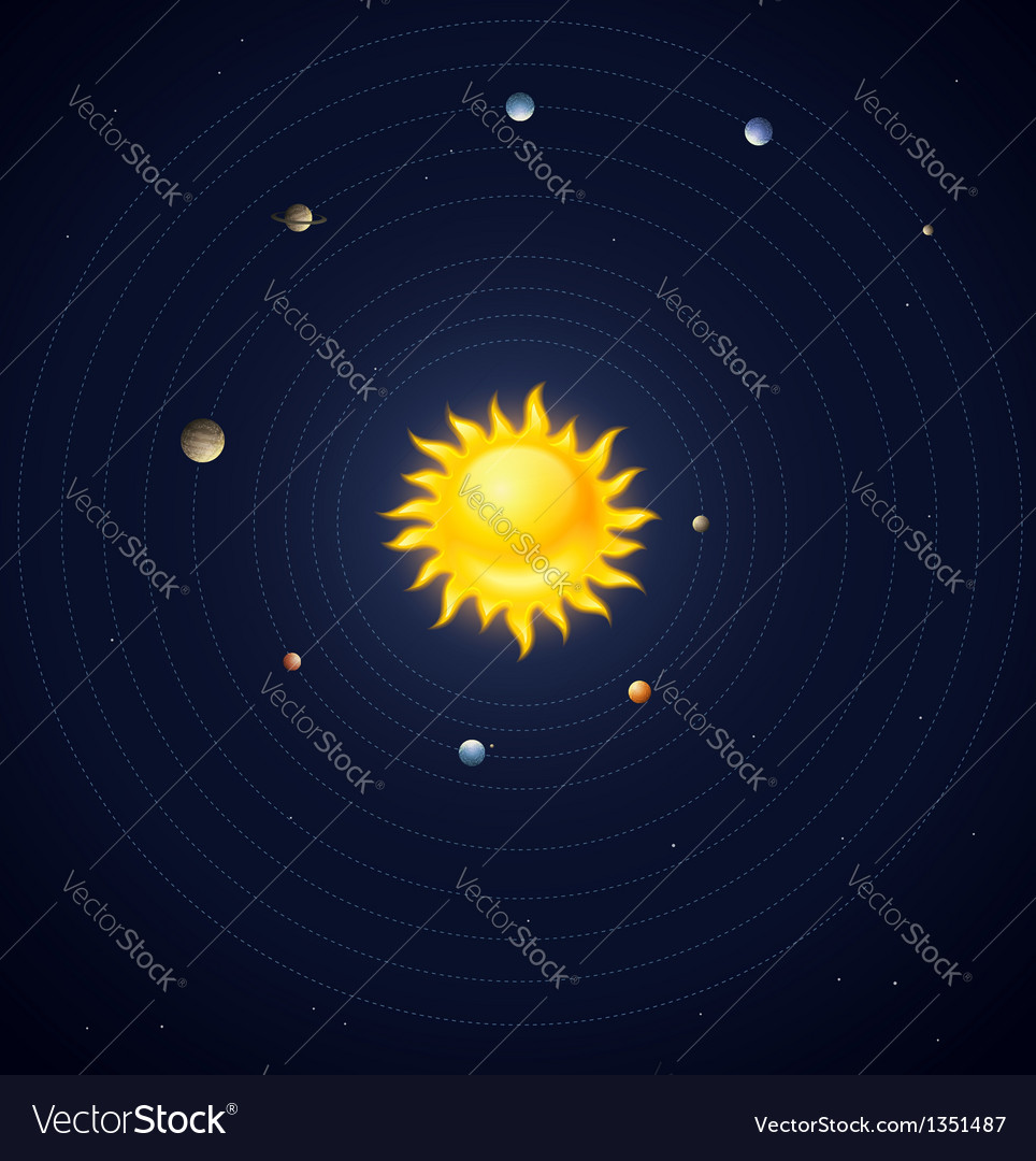 Solar system planets layout vector | Price: 1 Credit (USD $1)