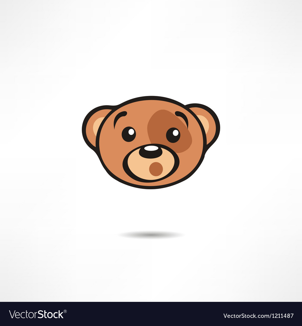 Surprised bear vector | Price: 1 Credit (USD $1)