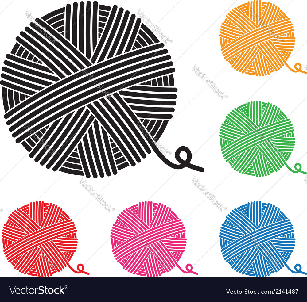 Yarn ball icons vector | Price: 1 Credit (USD $1)