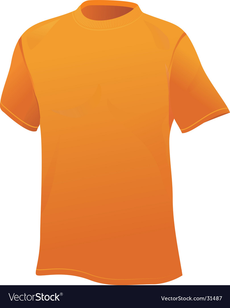 Yellow sports shirt vector | Price: 1 Credit (USD $1)