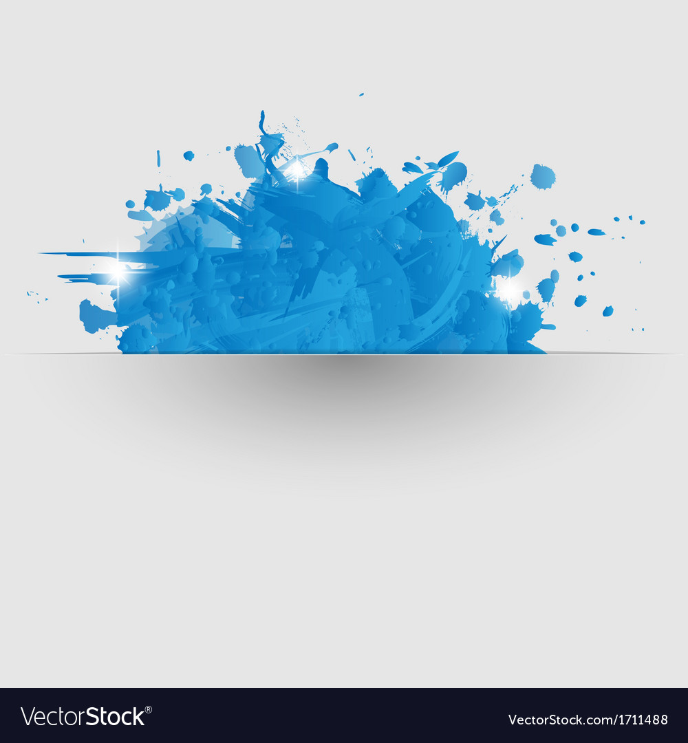 Abstract background with blue paint splashes vector | Price: 1 Credit (USD $1)
