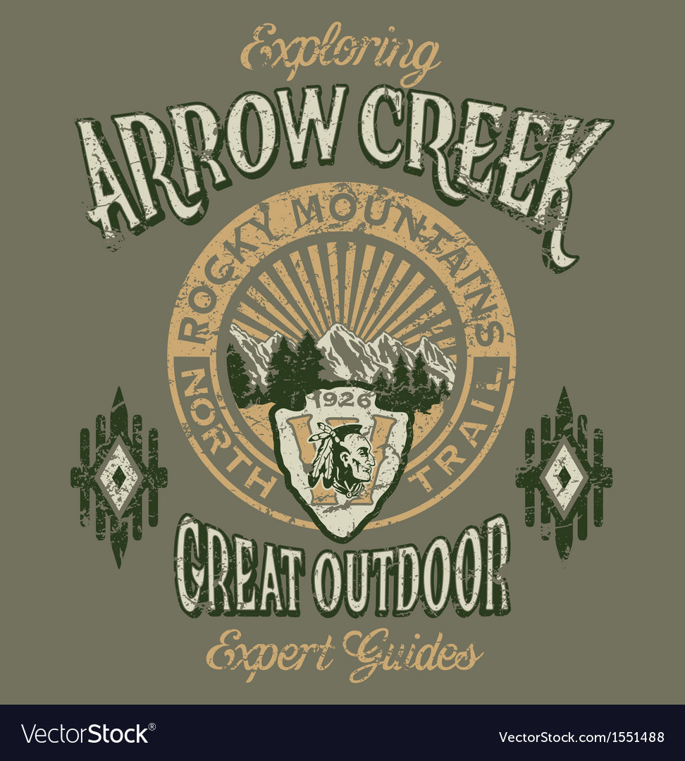 Arrow creek the great outdoo vector | Price: 1 Credit (USD $1)