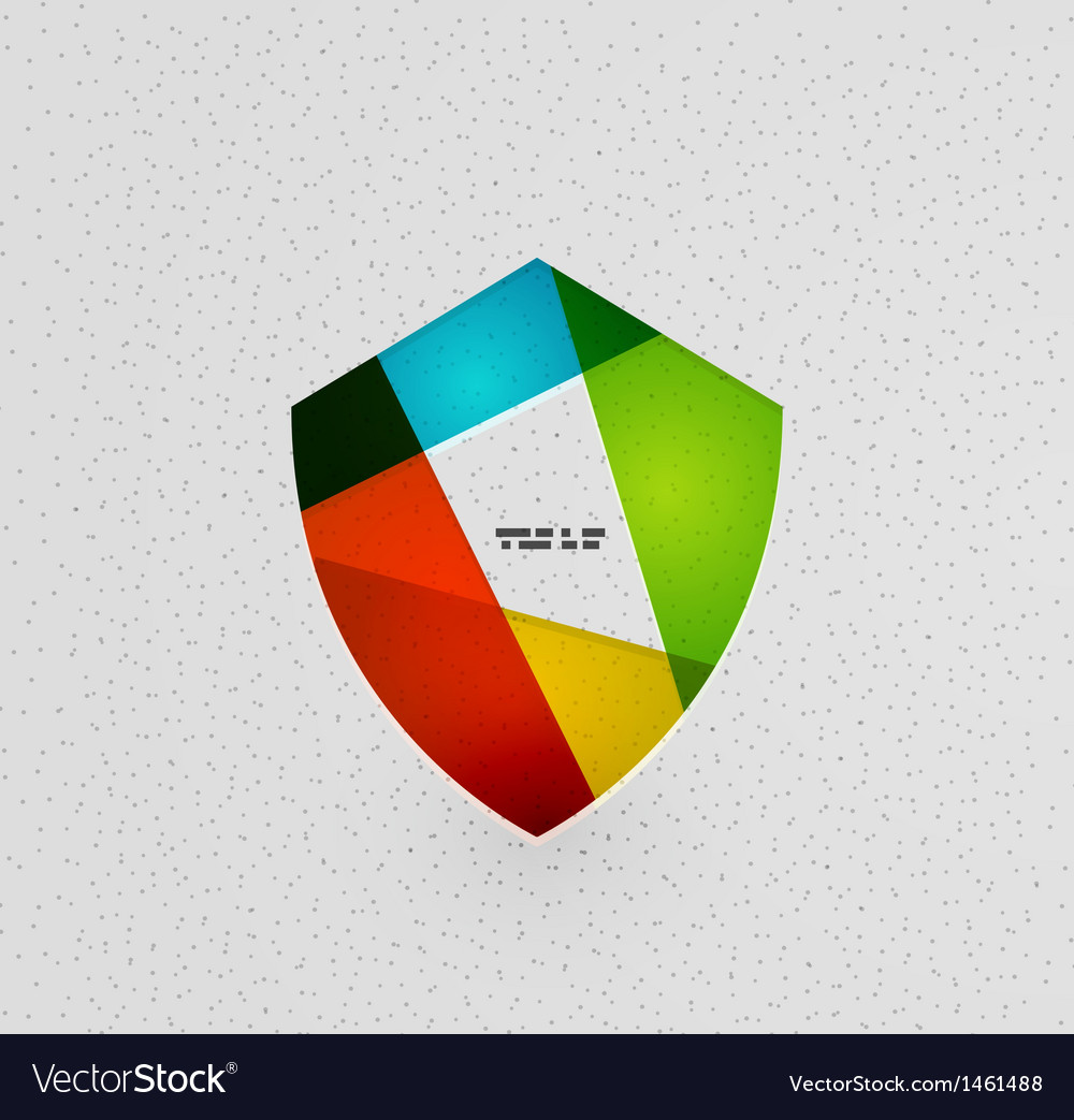 Colorful protection shield paper concept vector
