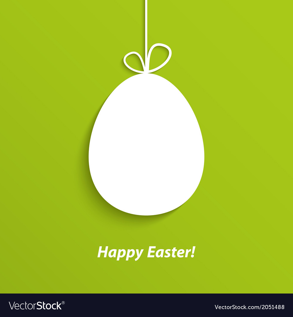 Easter card with hanging egg vector | Price: 1 Credit (USD $1)