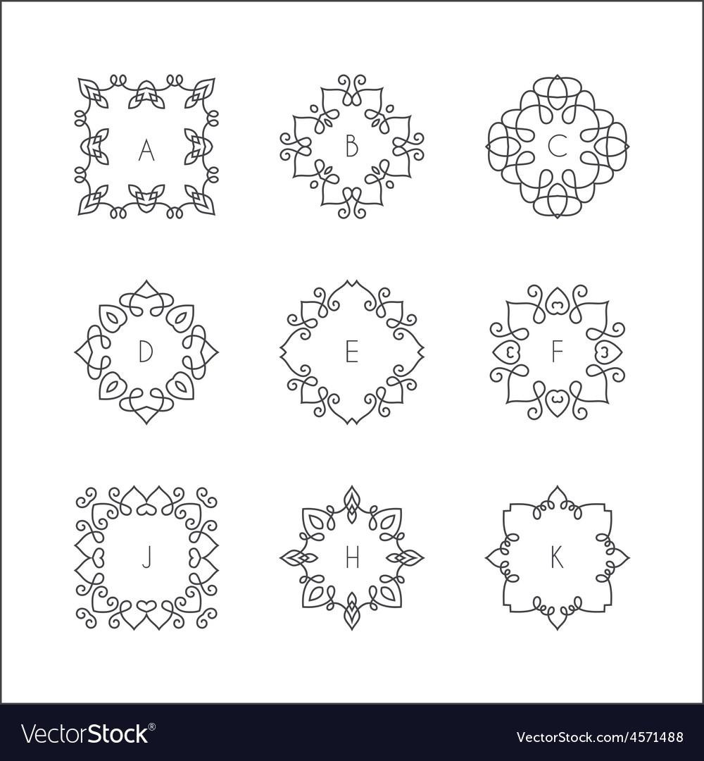 Monogram collection vector | Price: 1 Credit (USD $1)