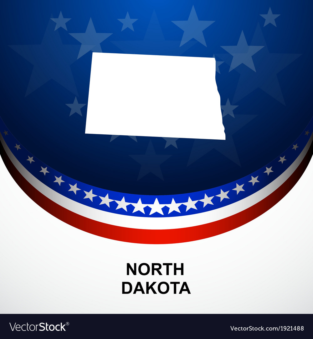 North dakota vector | Price: 1 Credit (USD $1)