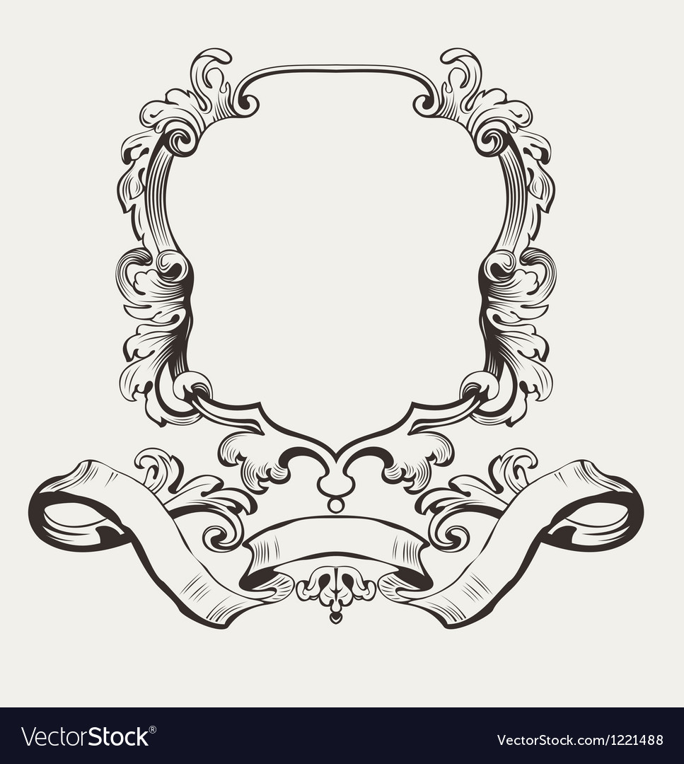 Of decorative frame and banner vector | Price: 1 Credit (USD $1)